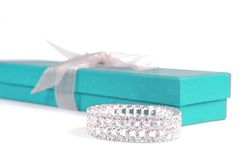 Bracelet And Gift Box Stock Image