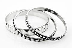 Bracelet argenté 2 Image stock