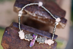 Bracelet. Beautiful esoteric and energetic bracelet Stock Photography
