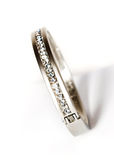 Bracelet blanc avec des diamants Image libre de droits