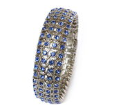 Bracelet with blue crystals Stock Image