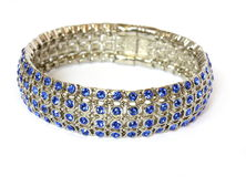 Bracelet with blue crystals Royalty Free Stock Photography