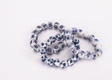 Bracelet - blue and white porcelain Royalty Free Stock Photo
