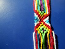 A bracelet braided from threads of a process Stock Photography
