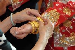 Bracelet of bride Stock Images