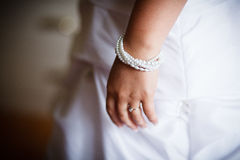 Bracelet on a bride Stock Image
