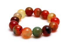 Bracelet coloful agate lucky stone Stock Images
