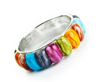 Bracelet with color stones Stock Photography