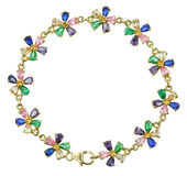 Bracelet with colored stones Stock Images