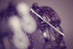 Bracelet with crystals Stock Photography