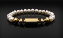 Bracelet d'or sur le noir illustration de vecteur