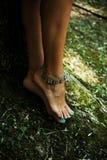 Bracelet de chaîne de cheville Images libres de droits