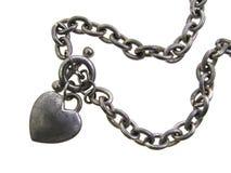 Bracelet de charme de coeur Photos stock