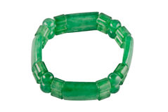 Bracelet de Chrysoprase Photos libres de droits