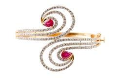 Bracelet de diamant Photographie stock