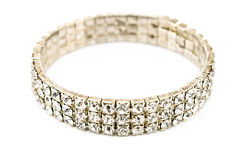 Bracelet de diamant Photographie stock