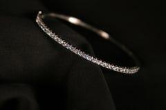 Bracelet de diamant Photographie stock libre de droits