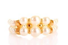 Bracelet de luxe de perle Photographie stock libre de droits