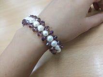 Bracelet de perle Photographie stock libre de droits