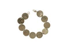Bracelet de pièce de monnaie Photographie stock