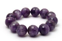 Bracelet de pierre de quartz de Lucky Amethyst Photo libre de droits