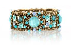 Bracelet de pierre gemme Photographie stock libre de droits