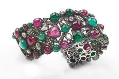Bracelet de pierres de gemme Images libres de droits