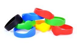 Bracelet de rfid de couleur Images libres de droits