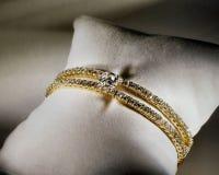 Bracelet de tennis de diamant Image libre de droits
