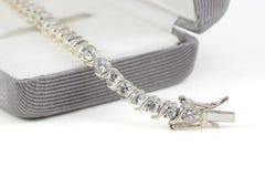 Bracelet de tennis de diamant Photo libre de droits