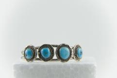 Bracelet de turquoise et d'argent Photographie stock libre de droits