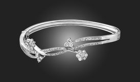 Bracelet with diamonds. Beautiful bracelet with diamonds for a special gift Stock Photo