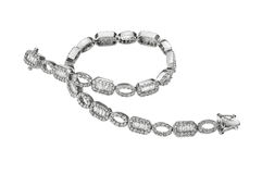 Bracelet with diamonds. Beautiful bracelet with diamonds for a special gift Royalty Free Stock Images
