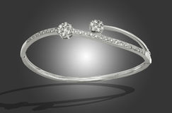Bracelet with diamonds. Beautiful bracelet with diamonds for a special gift Stock Images
