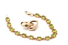 Bracelet with ear-rings stock photo