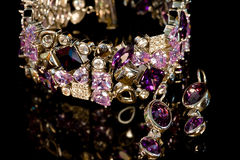 Bracelet and earrings royalty free stock images
