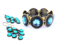 Bracelet and earrings Royalty Free Stock Photo