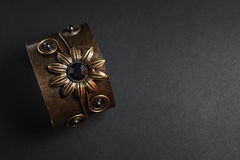 Bracelet en métal sur l'obscurité Photos libres de droits