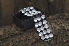 Bracelet et la boîte Photo stock