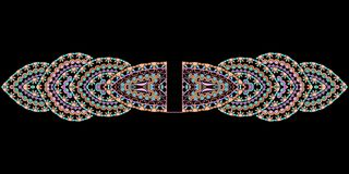 Bracelet ethnic cliche with  decorative elements. Stock Photos