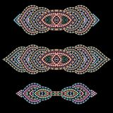 Bracelet ethnic cliche with  decorative elements. Royalty Free Stock Photo