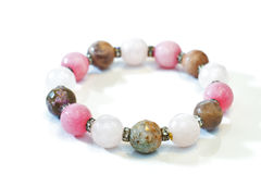 Bracelet faceted stones Royalty Free Stock Photos