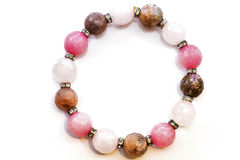 Bracelet faceted stones Royalty Free Stock Image