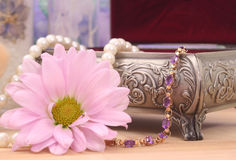 Bracelet and Flower Stock Image