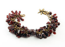 Bracelet with Garnet stock images