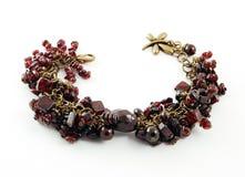 Bracelet with Garnet Stock Images