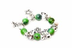 Bracelet green balls Royalty Free Stock Photo