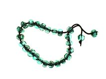 Bracelet with green beads Stock Images