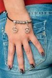 Bracelet on hand Stock Photography