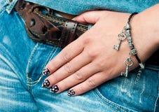 Bracelet on hand Stock Photo